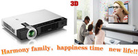 Wholesale Mini Full HD Pocket D Portable LED Projector P Lumens Home Cinema Theater TV Windows HDMI VGA G DDR3 G HDD Freeshipping