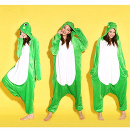 Wholesale Animal Love Frog Unisex Adult Flannel Onesies Pajamas Kigurumi Jumpsuit Hoodies Sleepwear Cosplay For Adults Welcome Order