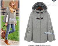 Wholesale new winter Gossip Girl cape cashmere coat Women split sleeve woolen shawl coat