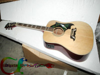 Wholesale Custom Natural DOVE Acoustic Electric Guitar With Fishman IN Stock