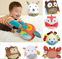 Wholesale animal shaped baby toys plush toy owl ball Parrot Sheep Rabbits and other cute baby toys for kids Gift KTJ W0046
