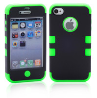 Wholesale AAAA Quality Colors Hybrid PC And Silicone Combo In Robot Cell Phone Case For iphone S iphone4S Shockproof Cases Protector