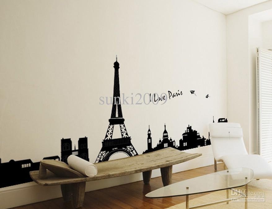 paris eiffel tower diy wall decal home decor sticker peelable wall sticker buy wall sticker peelable sticker