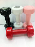Digital Red, black, white, pink Alarm Clock Free shiping Dumbbell Alarm Clock Fitness Alarm Wake Up with The Dumbbell Sport 5pcs lot WY161