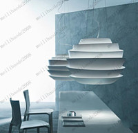 Dia 43cm Foscarini Le Soleil Vague White Rose Suspension Suspension Simple European Aluminium Chandelier droplight Lighting Lumière MYY6643