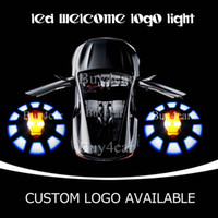 Wholesale Marve Iron Man Welcome Light Ghost Shadow Car LED Emblem Car Door Puddle Light LED Cree Q5 For Nisson Toyota Honda VW BMW Dodge Ford