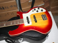 Wholesale Sample sales Strings Bass Electric Bass Guitar Cherry burst Electric Bass Guitar Top Musical instruments HOT guitars