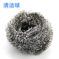 Wholesale Metal Steel Wire Ball Stainless Steel Cleaning Ball Cleaning Brush Steel Wire Bowl Brush Pot