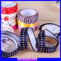 Wholesale Children s Stationery Office Supplies anchor cute plaid dot floral fabric tape DIY decorative packaging