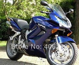 Free shipping,02-08 ABS Fairing kit For Honda Interceptor VFR800 2002-2008 Blue Motorcycle Fairings vfr 800 for sale Free shipping