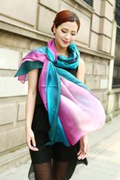 All matched women's shaded 100% silk Satin Sarongs Hijabs Bandanas Scarf wrap shawl poncho LARGE 180*110cm mixed color 9pcs/lot #3350