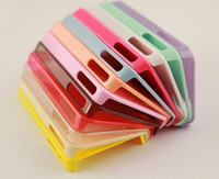 Wholesale Wholesaler DIY material phone case for iphone fashion colors phone shell