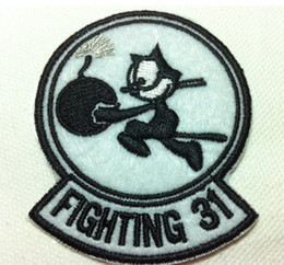 Wholesales~10 Pieces Cartoon Black White The Cat (5.5 x 6.5cm) Kids Patch Embroidered Iron On Applique Patch