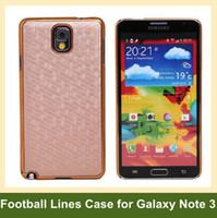 Metal For Samsung For Christmas Wholesale Football Lines Skin Case for Samsung Galaxy Note III N9000 Metal Hard Case for Galaxy Note III N9000 10pcs lot Free Shipping