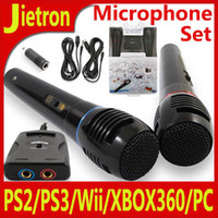 Wholesale Microphone Set USB Audio Adapter for PS2 PS3 Wii XBOX360 PC Speakers mm NOT Wireless usb adapter