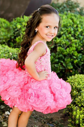 Wholesale Short Ballgown Party Dress - Wholesale - New 2014 Spaghetti Beads Ballgown spaghetti kids Party Prom dresses Ritzee Girls Pageant Dress Style