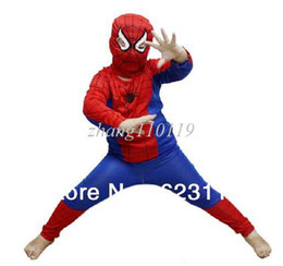 Wholesale S M L size Spiderman Halloween Costume For Kids Children Christmas Party Costume