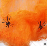 Wholesale Halloween Halloween items bar decoration manufacturer cobweb deserve to act the role of g color cotton spider XTT