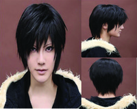 Wholesale Vogue short black straight cosplay men s hair full wig wigs Hallowmas amp Xmas Gift