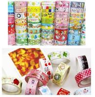 Adhesive Tape decorative tape - Cute cartoon color stick tape office Adhesive sticker home S flower decorative tape