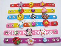 Wholesale Rubber Fun boys girls Plug in charms for silicone Wristband and clog shoe Christmas gift you can mix freely