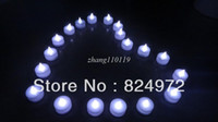 Wholesale 96pcs LED Smokeless flameless Electric AMBER white Tealight candles for Wedding Holiday Party decroations