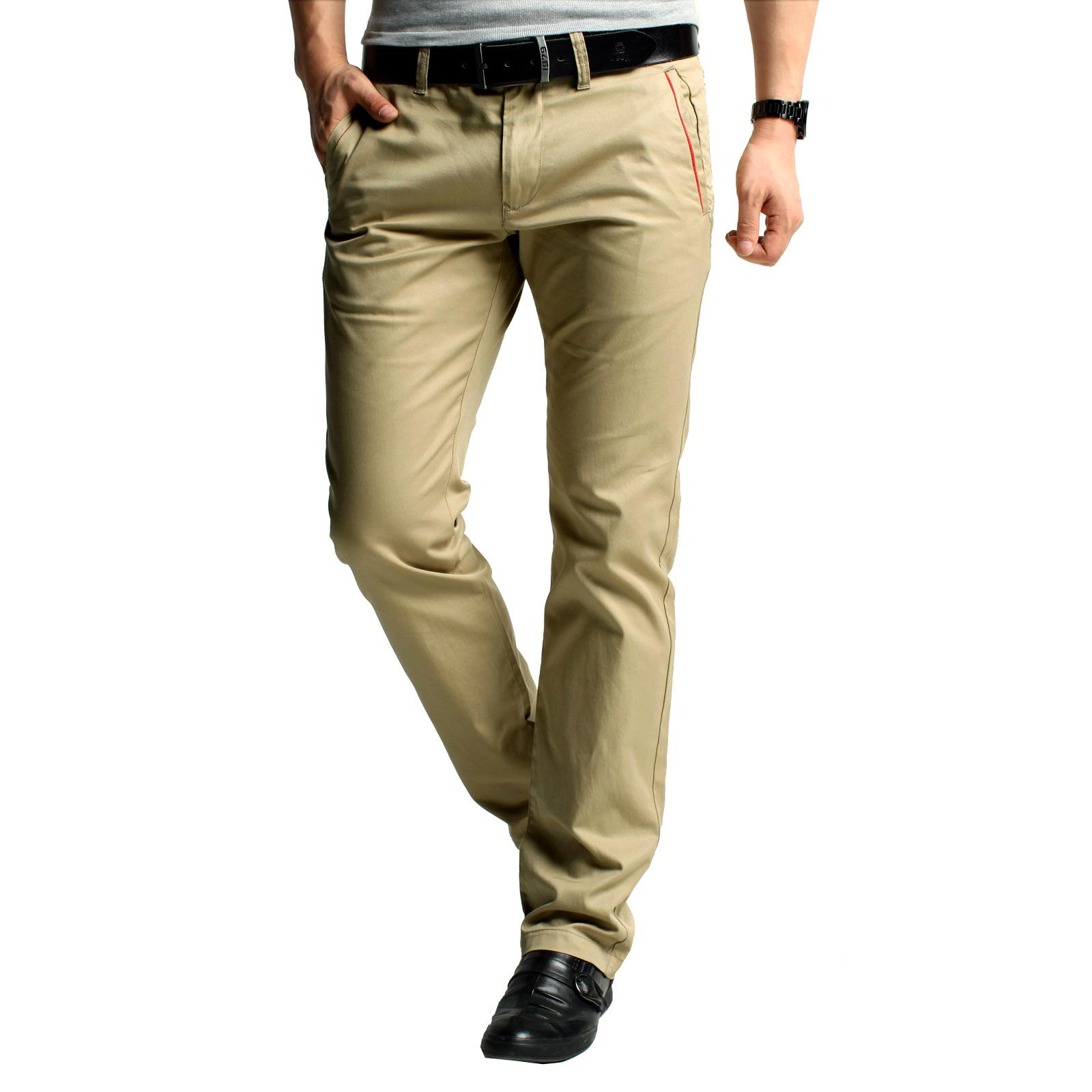 2017 Kuegou Khaki Pants Men Tide Autumn Men's Business Casual ...