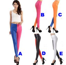 Wholesale The New Fashionable ladies leggings autumn winter imitation leather of tall waist leggings