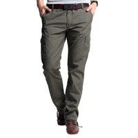 Men Bootcut Capris KUEGOU Men's Slim straight casual pants overalls