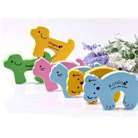 Wholesale Lovely Cartoon Animals EVA Door Stopper Crashworthy Safety Guard Finger Protection Children Furniture SH104