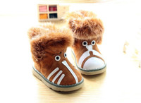 ab dog - 2013 Winter New Style Baby Kids Boots Cartoon Cat Dog AB High Rabbit Hair Cottn Warm Children Snow Shoes Year Kids Shoes pair QZ114