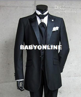 Actual Images business wear - Real Photo Custom Groom Tuxedos Men s Formal Clothes Business Suit Jacket Pants Tie Vest A