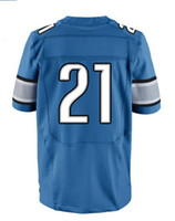 Men Short Polyester 2013 Elite Jersey #21 Blue Color Bush Jersey American Football Jerseys Sport Jerseys