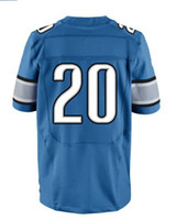 Men Short Polyester 2013 Elite Jersey #20 Blue Color Sanders Jersey American Football Jerseys Sport Jerseys
