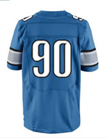 Men Short Polyester 2013 Elite Jersey #90 Blue Color Suh Jersey American Football Jerseys Sport Jerseys hollywoodjersey