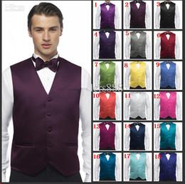 Wholesale Custom Design Size and Color Satin Groom Groomsmen Vests Men Bridegroom Best Man Waistcoat G993