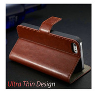 Leather For Apple iPhone No Luxury Vintage PU Leather Flip Case for iPhone 5 5S 5g Retro Wallet Style with Stand + Card Slot Drop Shipping !
