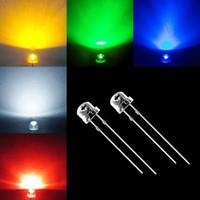 Wholesale 100pcs mm LED Straw Hat WHITE BLUE GREEN YELLOW RED LEDS LIGHT BALL LAMP BEADS Light Emitting Diode