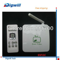 Cheap Single Core Android TV Box Best Included 1080P (Full-HD) Android TV Box GV11C