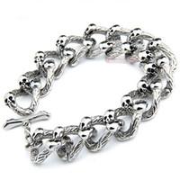 Skull Jewelry, Fashion Heavy Skull Bracelet Chain, 316L Stai...