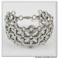 Men's Fashion Bracelets Chinese Knot Stainless Steel Bracelet For Women Jewelry Hand Chain Jewelry Fashoin Jewellery 2013, Wholesale,free shipping,WB078