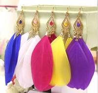 Wholesale EA2 vintage the feather earrings for women female charm jewelry fashion earings TA D abc