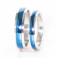 Wholesale Stainless Steel Couple Rings Sets His and Hers Promise Anniversary Wedding Jewellery Fashion amp WR022