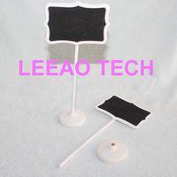 Wholesale Lowest Price Fedex Wood White Framed Scroll Mini Blackboard Chalkboard Stand Wedding Decoration