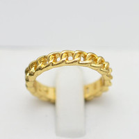 Wholesale New fashion jewelry K gold plated chain link finger rings for women girl Min order is mix different item R819