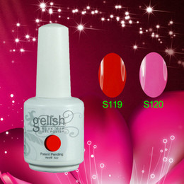 Wholesale 200Pcs Hot Sale Gelish Nail Polish Soak Off UV Nail Gel Polish Fashion Colors Available Free DHL TNT Shipping