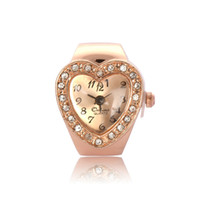 Wholesale 2013 New Arrival Fashion White Stretch Heart Metal Finger Ring Watch Fashion Finger Ring Watch amp Ring Watch