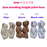 Wholesale 100pcs cm Joint Bear Doll Mini Plush Teddy Bear Cute Cell Accessories Mobile s Pendant