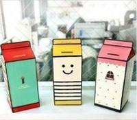 Wholesale Cute DIY Milk Bottle Piggy Bank Money Saving Box Coin Counter