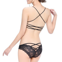 Wholesale Sexy Panties Jacquard Silk Floral Hollow Cross Ribbon Women Lace Lingerie G string